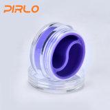 малый Refillable пластичный Cream опарник 10g с слоем вкладыша силикона двойным