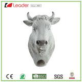 Корова Polyresin Hot-Sale крюк скульптура стену трофей для дома украшения