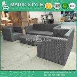 Il sofà di vimini ha impostato con Cuhion per la mobilia di vimini del patio del sofà del rattan del sofà 3-Seat del giardino dell'hotel