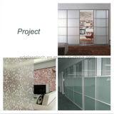O baixo ácido da decoração do ferro gravou o vidro geado da divisória do escritório