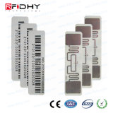 Etiqueta engomada de la frecuencia ultraelevada RFID del control de gerencia 860-960MHz