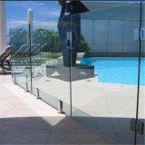 Het Traliewerk van het Balkon van de Sponnen van de Omheining van het Zwembad van de Sponnen van het Glas van het roestvrij staal/van het Glas Frameless
