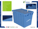 スタック可能プラスチック収納用の箱ボックス容器