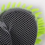 Toalha de lustro do carro de Microfiber com a esponja com engranzamento (chenille)