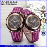 Personnaliser les montres-bracelet de couples de mode de montre de quartz de service (Wy-072GC)
