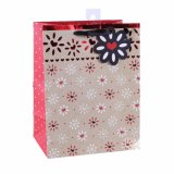 ピンクの花のクラフトの方法パターンギフトの紙袋
