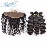Оптовые Unprocessed бразильские свободные пачки & Frontal человеческих волос девственницы волны