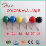 卸売はカラー鋼鉄ポイントとのプラスチック円形のヘッドマップ押しPinを分類した