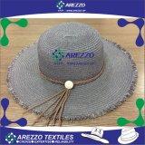 Sombrero de papel de la playa de la paja de las mujeres (AZ021C)