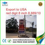 Indicador de diodo emissor de luz do indicador do preço de gás de 8 polegadas (TT20F-3R-RED)