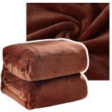 La promotion épaississent la couverture d'or 100cm*120cm 320g de laines de vison