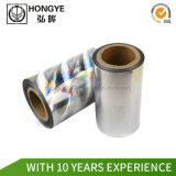 Hot Stamping plata lámina holograma para la tarjeta