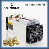 Stock Bitmain Vente Antminer S9 13t/13,5 t/14t Puces ASIC Bitcoin mineur pour l'exploitation minière