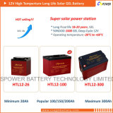 Pila secondaria di energia solare della batteria del gel di Cspower 12V 24ah