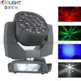 19*15W RGBW 4in1 LEDの移動ヘッド軽い蜂の目の移動ヘッドズームレンズの段階ライト
