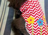 Sunmmer甘いFlowesの女の子犬のTシャツの100%年の綿のTシャツ小さい犬のワイシャツの柔らかい衣裳ペット服