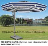 Runder seitlicher Pfosten-Aluminiumregenschirm