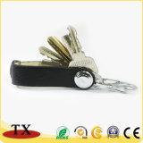 Chaîne de clés en cuir avec S mousqueton avec clip décapsuleur