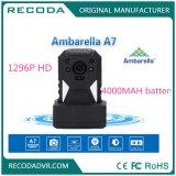 Câmera desgastada da polícia de HD 1296p Ambarella corpo cheio 12 horas de bateria de 4000mAh