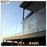 12мм закаленного стекла с полированной кромки для Balustrade