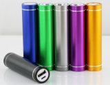 둥근 립스틱 금속 소형 충전기 휴대용 힘 은행 1800mAh
