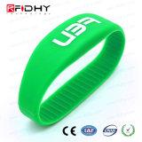 Wristband clássico do silicone do clube MIFARE 4K 13.56MHz RFID