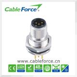 Câble directement moulé femelle du connecteur IP67 de M12 8pin
