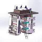 El nuevo estilo de alta velocidad modificó la impresora para requisitos particulares flexográfica de la prensa de la taza de papel de 4 colores