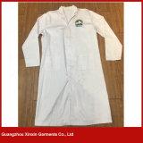 2017 nuovo Deign il dottore Gown, il cappotto lungo bianco del laboratorio del manicotto (H4)