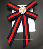 女性の水晶花の長いちょうネクタイのJabotの首のCravatのブローチPinの宝石類のアクセサリ(BR-22)