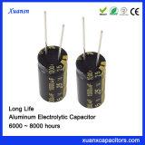 De Radiale Elektrolytische Condensator met lange levensuur van het Aluminium van de Condensator 1000UF 25V