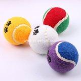Bal van het Tennis van het Stuk speelgoed van het Huisdier van het Embleem van de douane de Rubber, de Toebehoren van de Hond