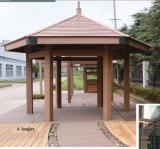 Het heet-verkoop gemakkelijk-Geïnstalleerdet Houten Plastic Samengestelde Paviljoen van 6 Hoeken