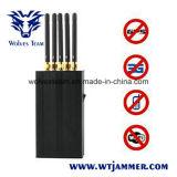 5 emittente di disturbo portatile del segnale di WiFi GPS L1 del telefono delle cellule dell'antenna