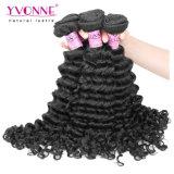 El tejer peruano del pelo de Remy de la Virgen de la onda profunda al por mayor caliente de Yvonne