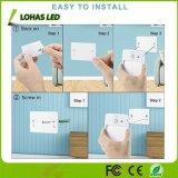 0,5W 5V recarregável USB Mini Sensor de movimento por infravermelhos de luz para a parede do gabinete de escada