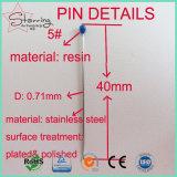 卸売価格の樹脂ヘッド7サイズの実験室のステンレス鋼のEntomological昆虫Pin