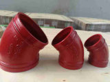 """11.25 Degree 3 """" Fire Fighting Grooved Coupling Elbow FM/UL."""