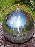 304# de Waterval van de Fontein van het Water van de Bal van het roestvrij staal met LEIDEN Licht voor de Decoratie van de Tuin