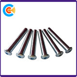 Chapa de aço com cabeça redonda M5 de zinco os pinos do soquete sextavado/Parafusos