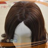 Peluca brasileña superior de seda del pelo humano del 100%