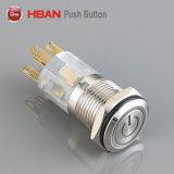 Hban 16mm Commutateur à bouton poussoir métallique avec symbole de puissance
