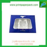 プラスチックの箱のためのWindowsが付いているカスタマイズされた贅沢なボール紙の堅いペーパーギフト用の箱