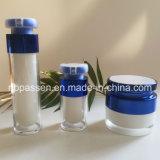 Estetica blu che impacca la bottiglia senz'aria della lozione del vaso crema acrilico (PPC-NEW-157)