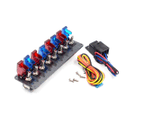 12Vレースカーの点火スイッチ4の青い及び1つの赤いトグルボタンのパネル