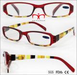 Цветные пластмассовые женщин чтения очки с CE и FDA (WRP7071074)