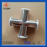 DIN/SMSの標準の締め金で止められた鋼鉄304/316L 4方法十字
