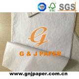 Umidade branca - papel de tecido da prova para envolver