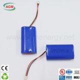 Pacchetto della batteria di litio della Banca 2s1p Icr18650 2000mAh 7.4V 14.8wh di potere