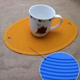 Support de bac chaud de couvre-tapis anti-calorique antidérapant de vaisselle de cuisine de silicones